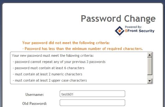 how to change password patriot web